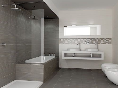 Carrelage de salle de bain / de sol / en céramique / brillant ...
