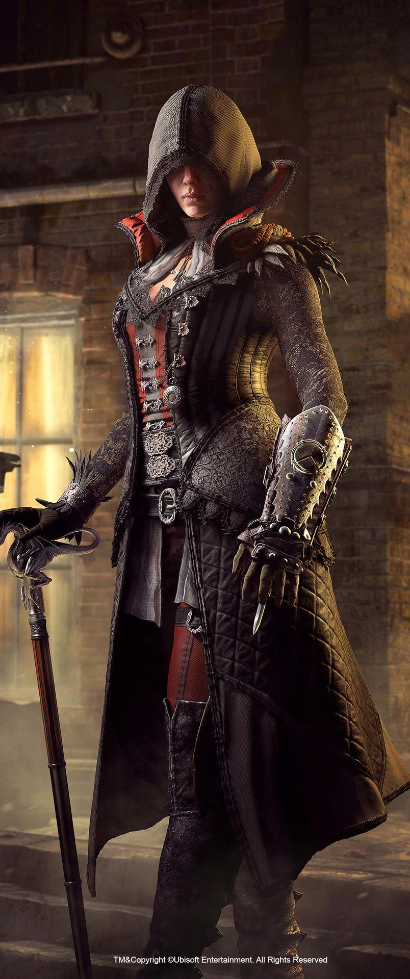 f Rogue Assassin Med Armor Cloak Staff hidden fist punch