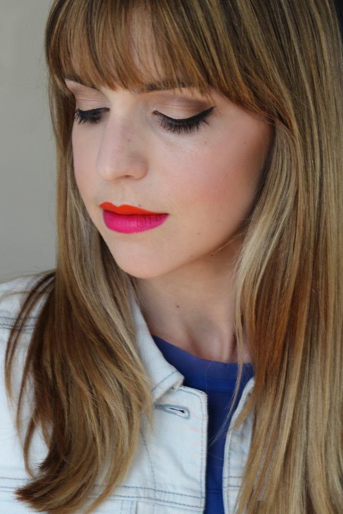 two tone lipstick trend