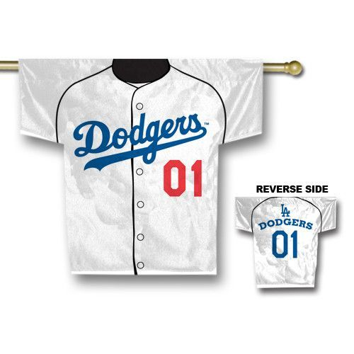Los Angeles Dodgers MLB 2 Sided Jersey Banner (34 x 30)