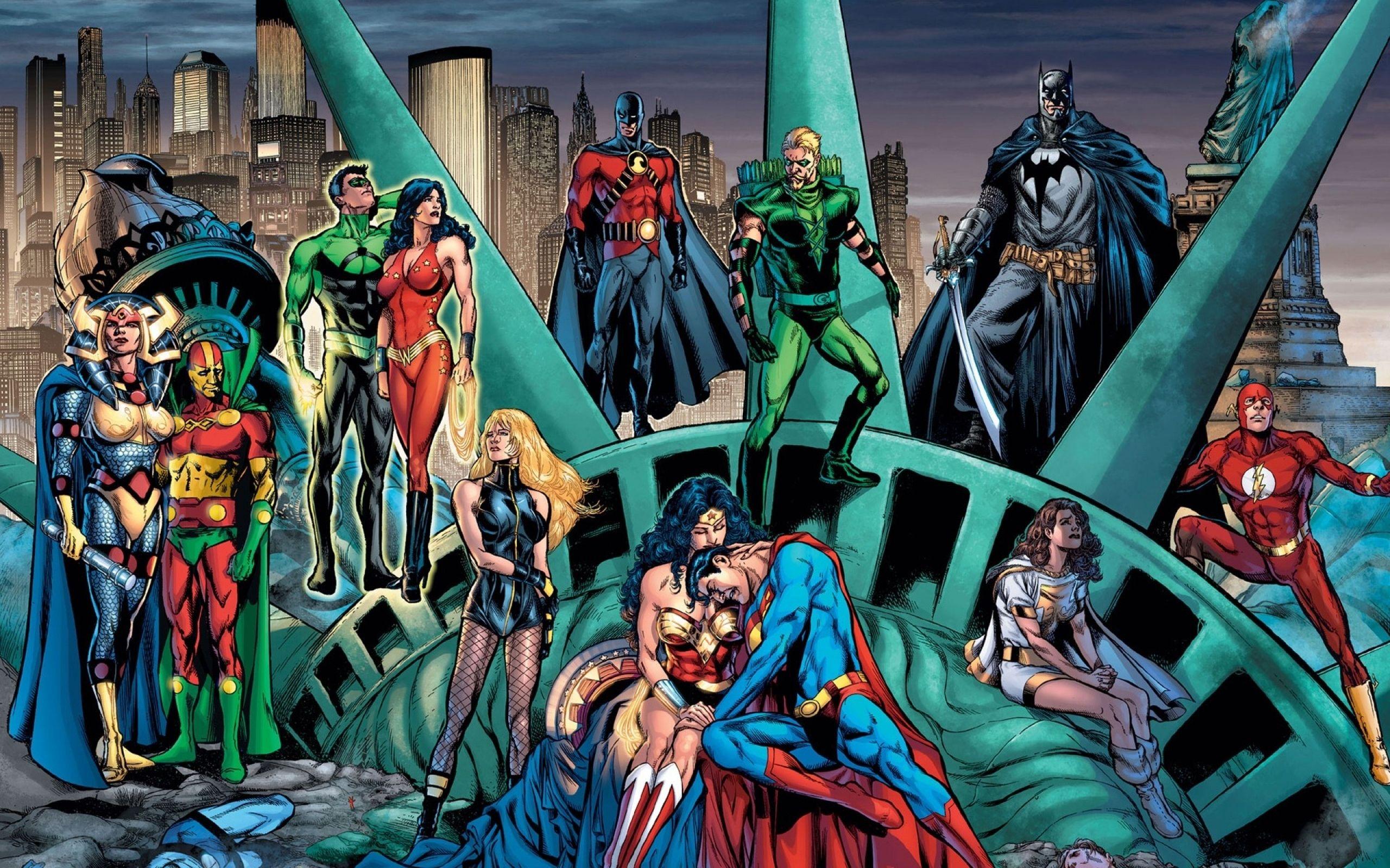 Justice League Computer Wallpapers Desktop Backgrounds 2560x1600 Id 221832 Dc Comics Wallpaper Comic Poster Superhero Comic