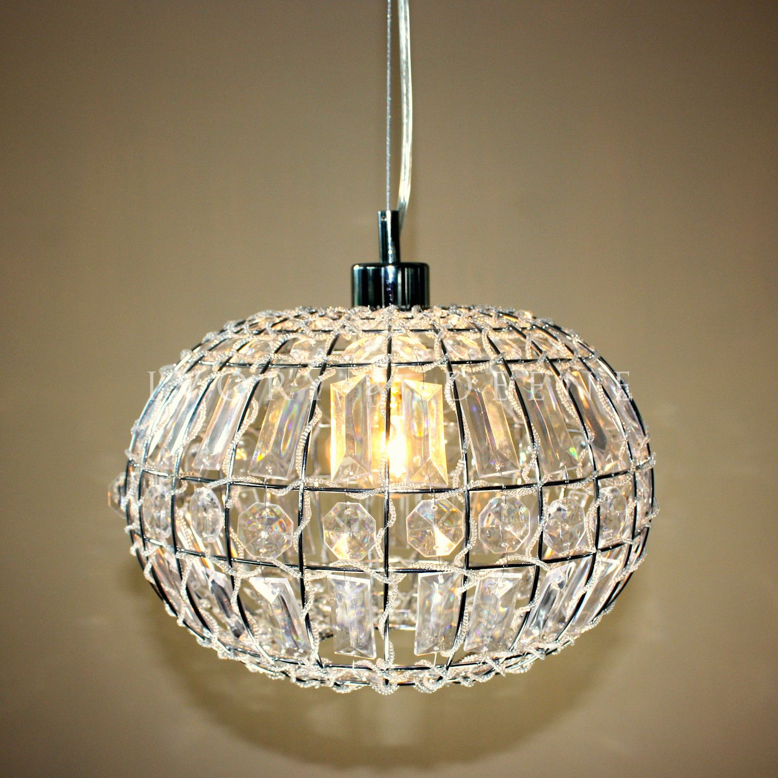 Lily pendant light chic round crystal ball hanging lamp crystal lily pendant light chic round crystal ball arubaitofo Images
