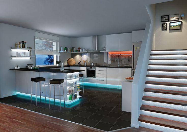 Schlicht, mehrfarbig oder lieber alles im Wechsel - unsere LED - licht ideen wohnzimmer