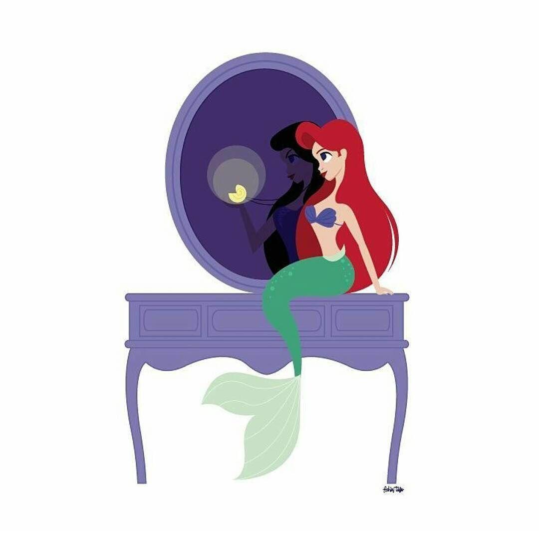 Fbf to my ariel vanity mermay mermaid ariel disney in light of my first vanity series piece debuting today heres a little mermaid inspired vanity piece geotapseo Images