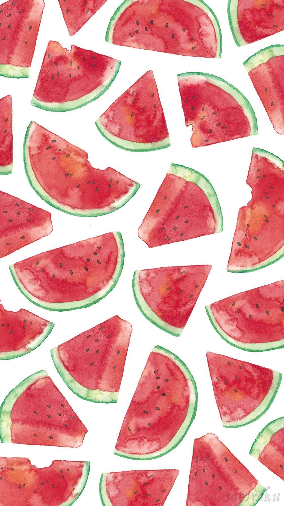 さとろく On With Images Watermelon Wallpaper Fruit Wallpaper