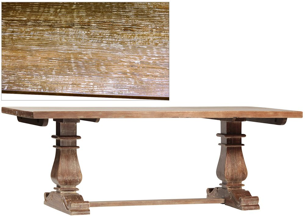 Dovetail Furniture Lauren Dining Table With Extension In Lucca