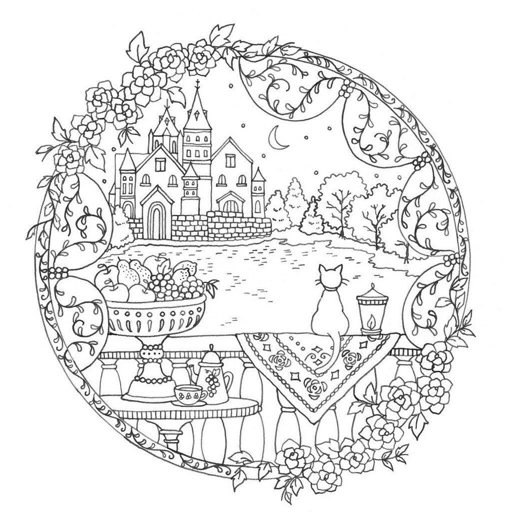 Romantic Country A Fantasy Coloring Book Coloring Book Pages Romantic Country Coloringbookpagesroman Coloring Books Romantic Country Coloring Book Pages