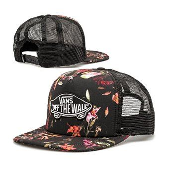 520422cc940fc Vans Off The Wall Unisex Classic Patch Snapback Trucker Hat Cap - Death  Bloom Floral at Amazon Men s Clothing store