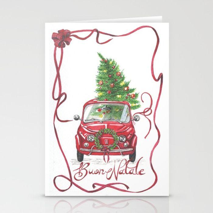 Italian Christmas Card no.2 Stationery Cards #natale #cartolina ...
