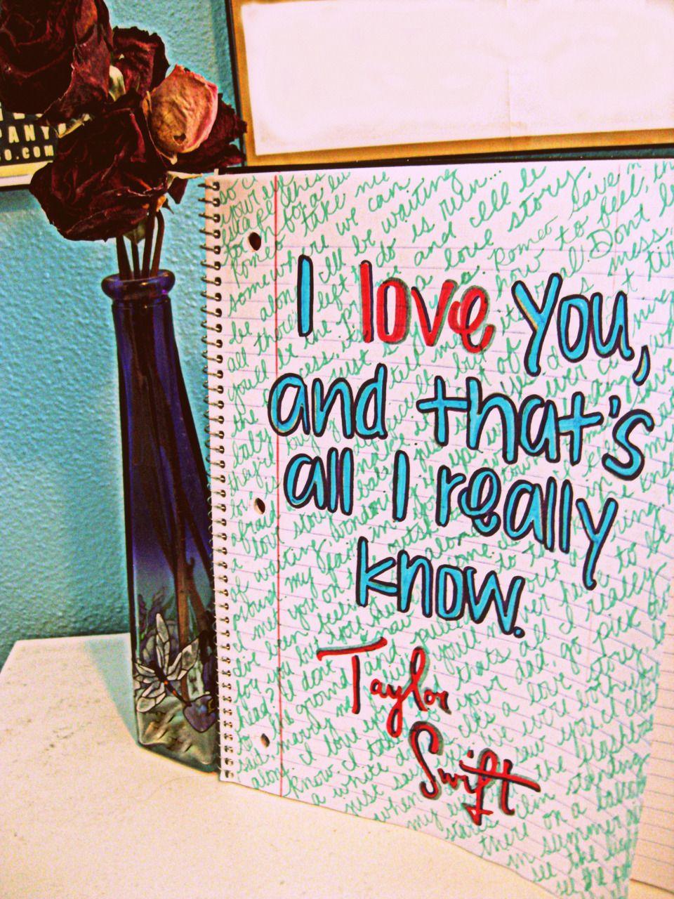 Taylor Swift Love Lyrics Tumblr