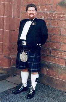 Kilt worn with the Argyll jacket, and belt