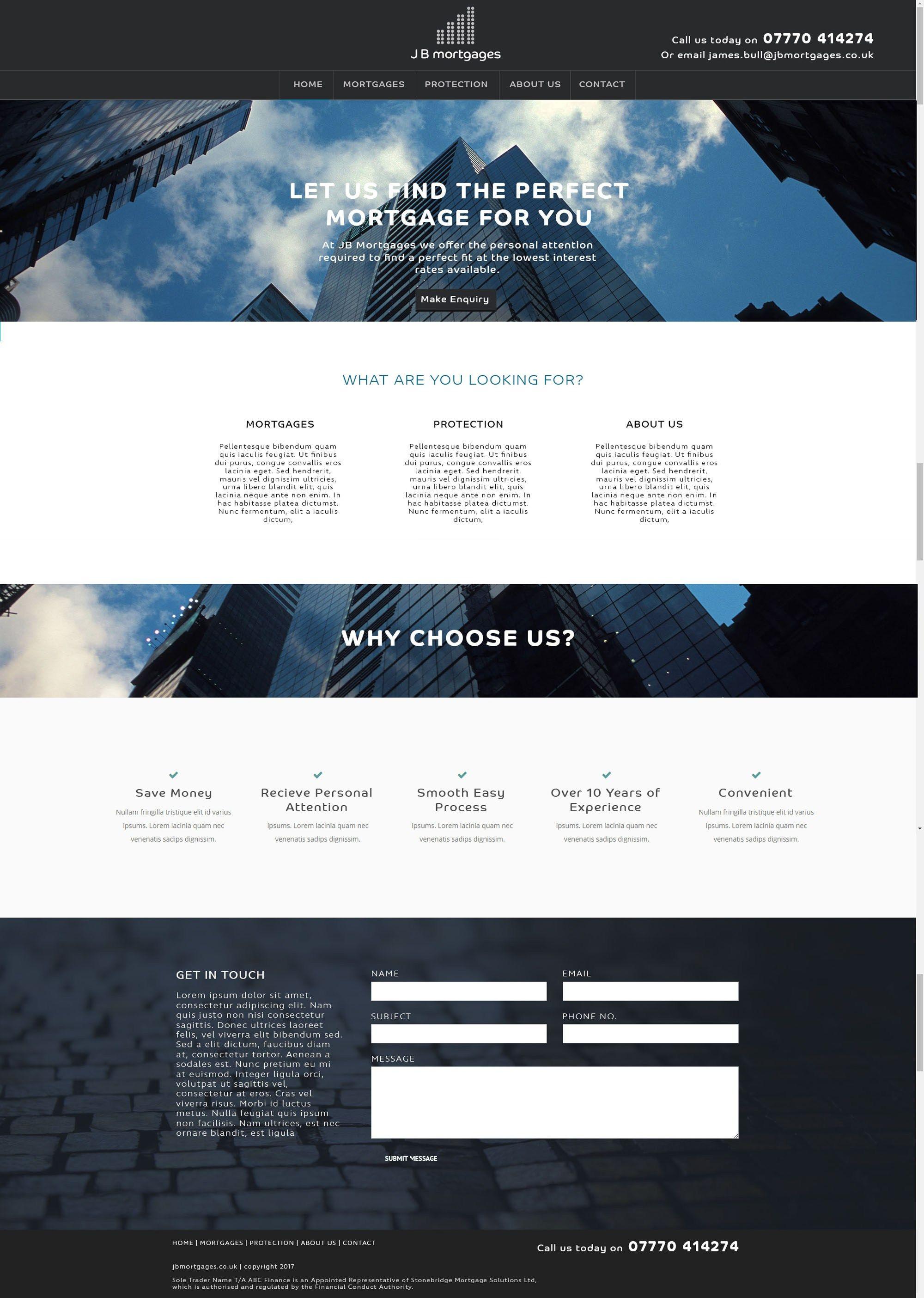 Jb Mortgages Website Design Development London Enfield Web Design London