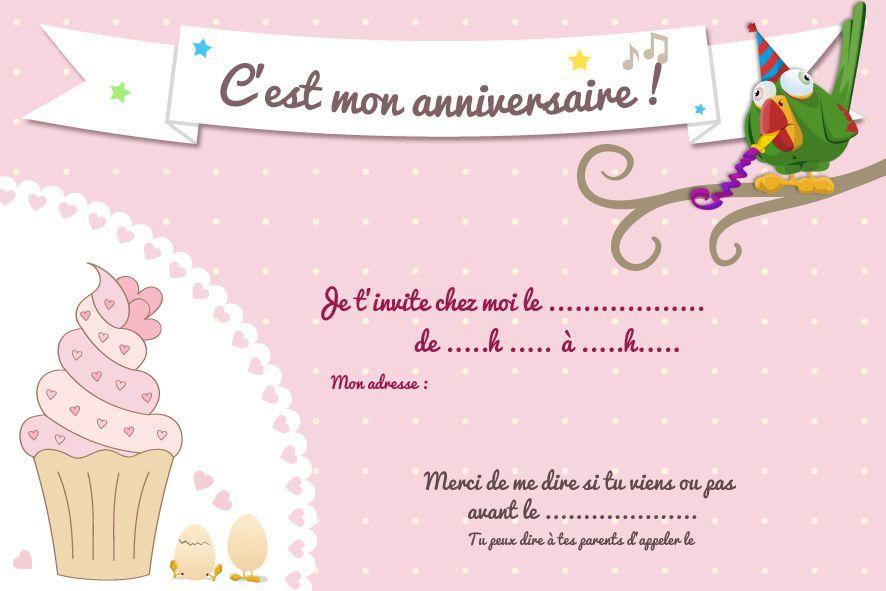 Carte invitation anniversaire a imprimer gratuit fille - Carte anniversaire a imprimer gratuit fille ...