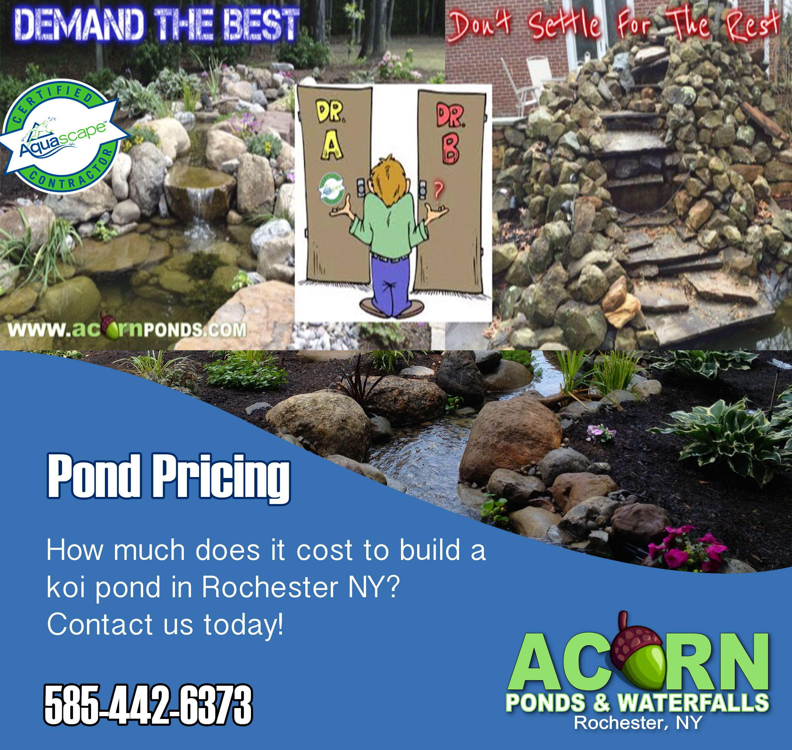 In Order To Figure Out The Cost To Build A Koi Fish Pond In Rochester New York Ny There Are A Few Factors To Pond Construction Pond Waterfall Koi Pond Design