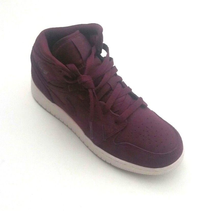 designer fashion fc549 f5895 Nike Boys 554725-625 Grade School Air Jordan I 1 Mid BG Bordeaux Sail Size  6Y  Jordan  BasketballShoes