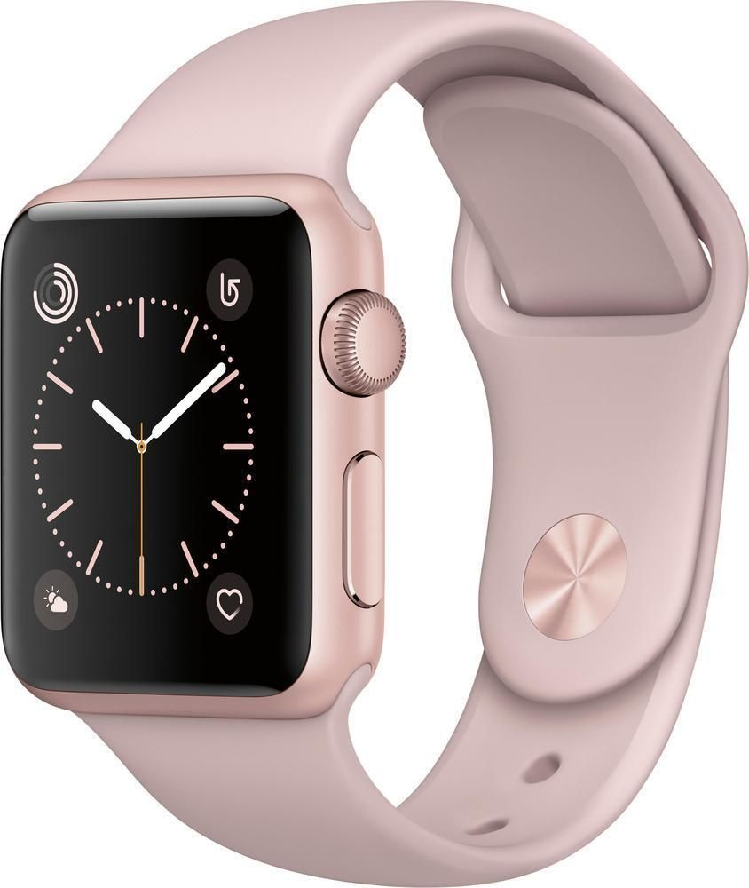 229e6297be6 Open-Box Excellent  Apple - Apple Watch Series 2 42mm Rose Gold Aluminum  Case...  Apple