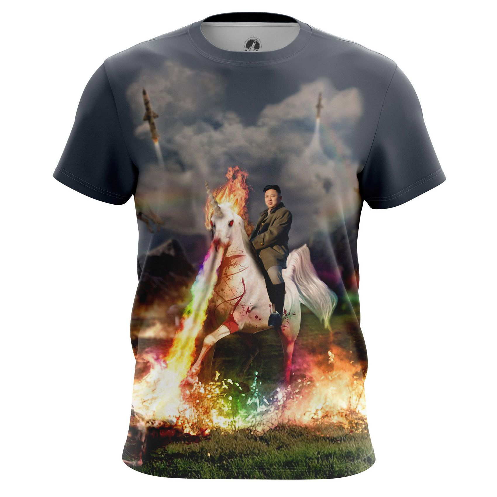 t shirt kim jong un epic kim unicorn north korea fun internet. Black Bedroom Furniture Sets. Home Design Ideas