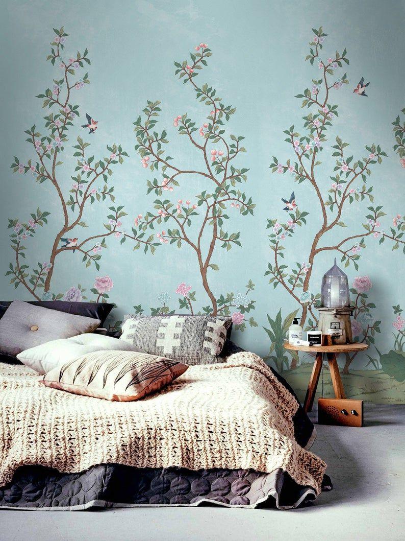 Vintage Chinoiserie Wallpaper Birds Wallpaper Easy Install Etsy In 2021 Chinoiserie Wallpaper Vintage Chinoiserie Bird Wallpaper