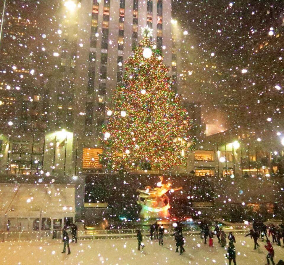 Rockefeller Center. Snowstorm 1214 City house, I love