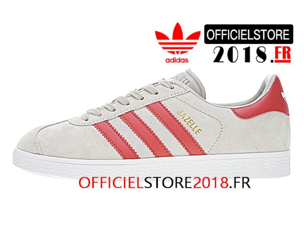 64e4a6fa356 Adidas Homme Chaussures Originals Gazelle Prix Pas Cher Beige Rouge  BB5257-BB5257-Adidas Superstar