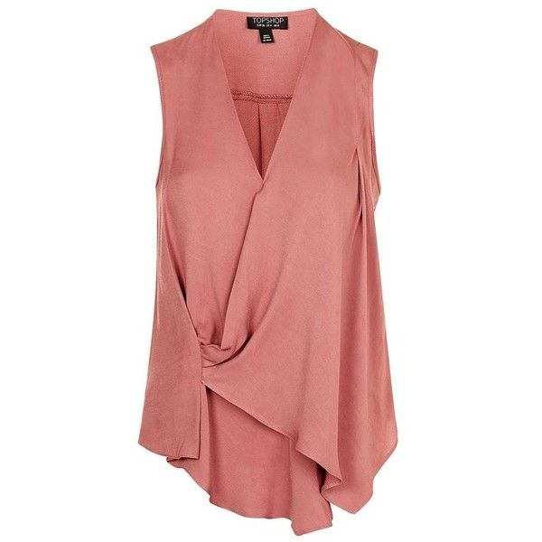 f820cf2e19ffd1 Women s Topshop Asymmetrical Drape Blouse (3.880 RUB) ❤ liked on Polyvore  featuring tops