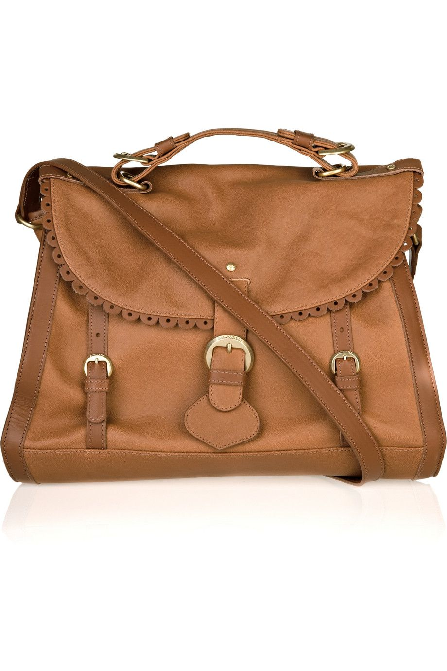 See By ChloÉ Poya Vintage Leather Satchel Color Toffee