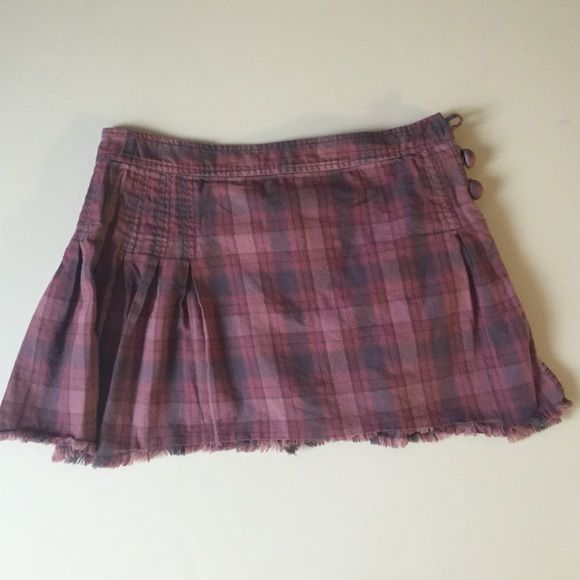 Marc by Marc Jacobs tartan plaid skirt pink purple Marc by Marc Jacobs tartan plaid skirt pink purple missing one button on side and inside button if you are handy it will be a great buy! Marc by Marc Jacobs Skirts
