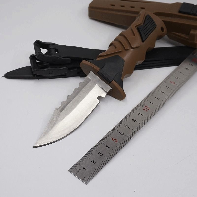 Professional Deep Sea Scuba Diving Fixed Titanium Blade Knife 440c Stainless Ebay Link Diving Knife Diving Stainless