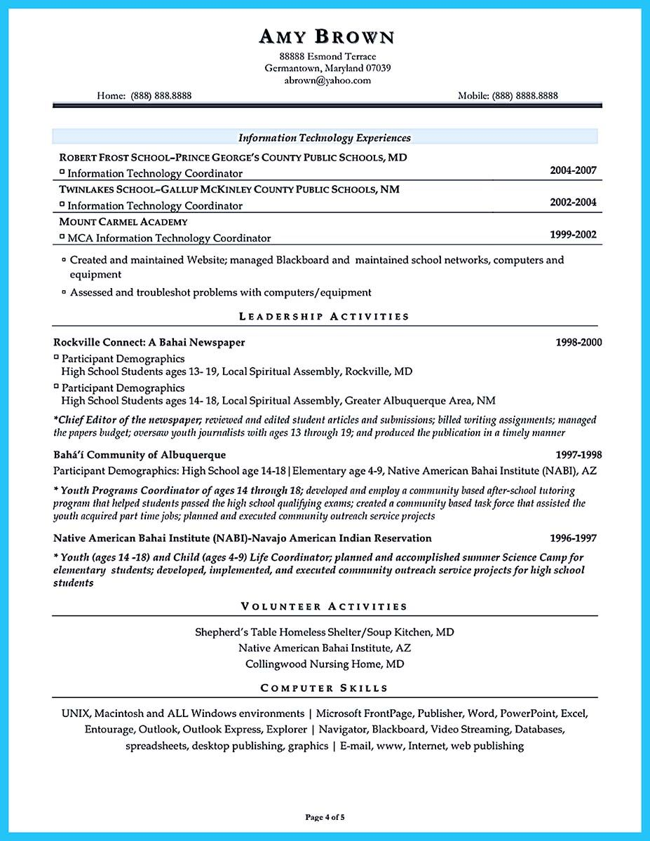 At The Beginning Part Of Assistant Principal Resume You Can Write