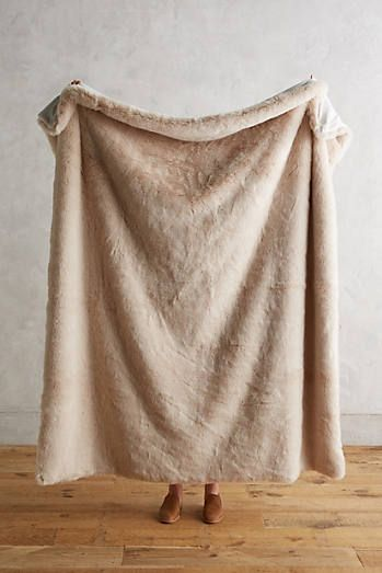 Fireside Faux Fur Throw Blanket With Images Faux Fur Throw