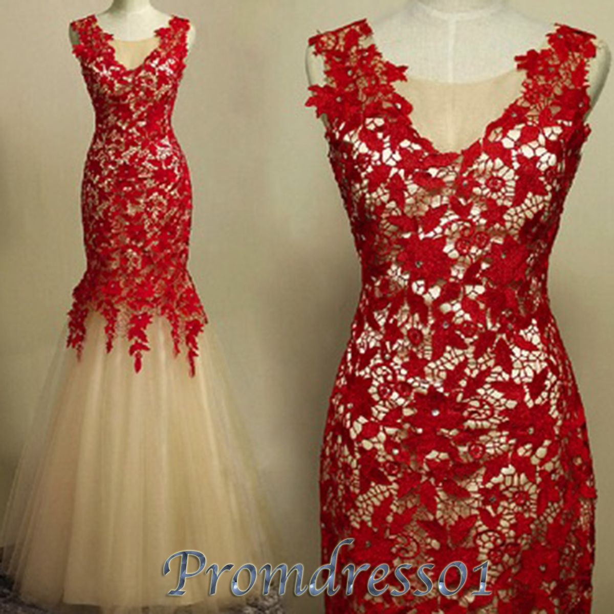 Prom dress lace things to wear pinterest lace mermaid red