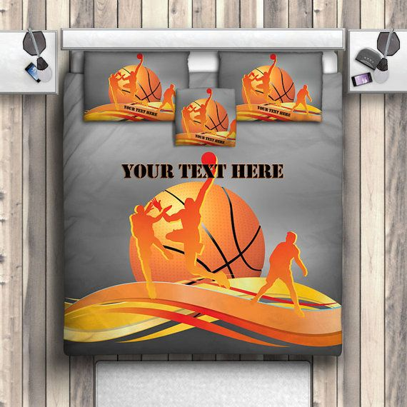 Hey, I found this really awesome Etsy listing at https://www.etsy.com/listing/224691483/basketball-team-bedding-basketball
