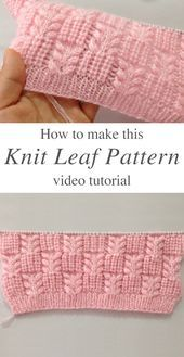 Photo of Knit Leaf Pattern You Could Learn Easily | CrochetBeja