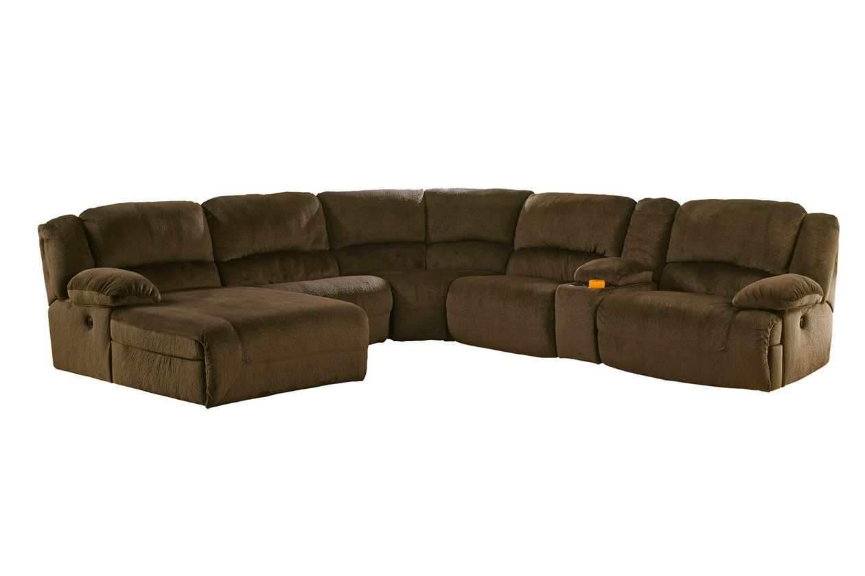 Awesome Toletta 6 Piece Reclining Sectional With Chaise Non Power Bralicious Painted Fabric Chair Ideas Braliciousco