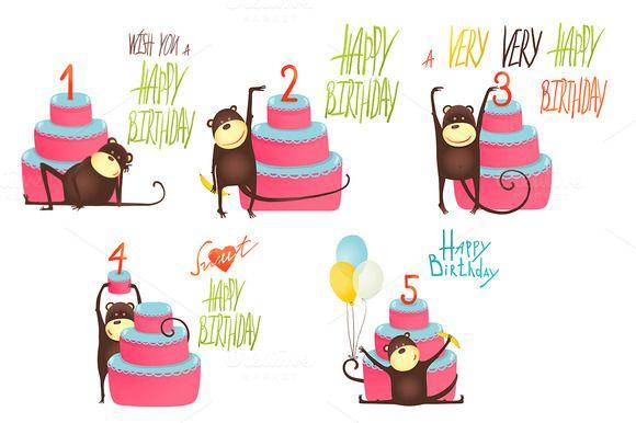 Monkey Happy Birthday Greeting Cards – Funny Monkey Birthday Cards