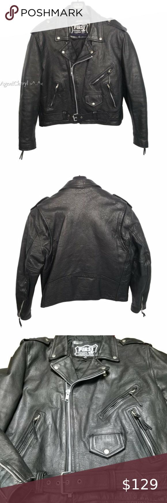 1st Genuine Leather Size 46 Mens Motorcycle Jacket Motorcycle Jacket Mens Clothes Design Motorcycle Jacket