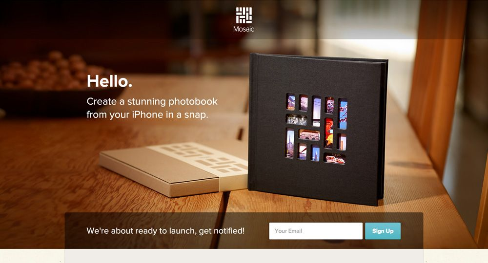 Create a stunning photobook from your iPhone in a snap // http://heymosaic.com