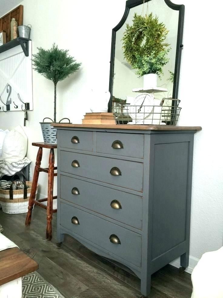 Painted Furniture Ideas Tables Gray Before And After Painting An Old Dresser