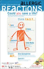 """""""Allergic Reactions... Think F.A.S.T."""" Poster  https://secure.anaphylaxis.ca/en/shop/posters.html/shopping/view-category/c/4"""