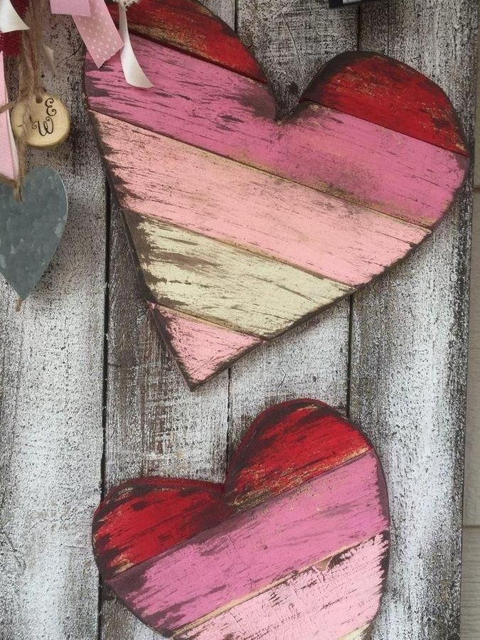 40+ kreative Wege zum Valentinstag Dekor Rustikale