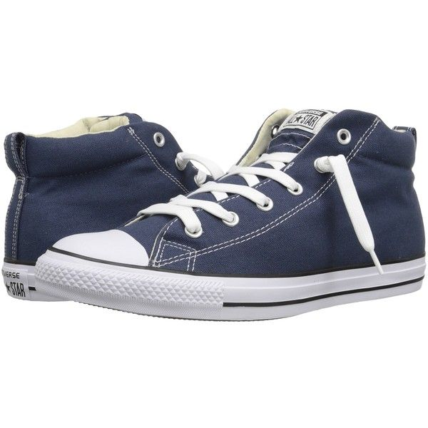 Converse Chuck Taylor All Star Street Core Canvas Mid (Navy/Natural/White)  Lace up casual Shoes