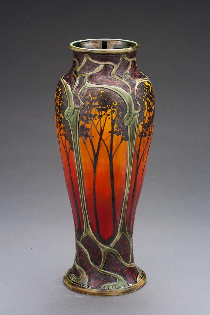 Florero art nouveau jarrones botellas pinterest art for Disenos de jarrones