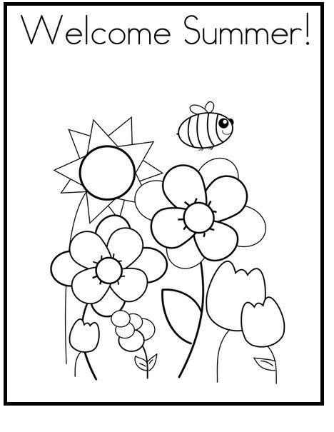 Welcome To Summer Day coloring picture for kids | Summer ...