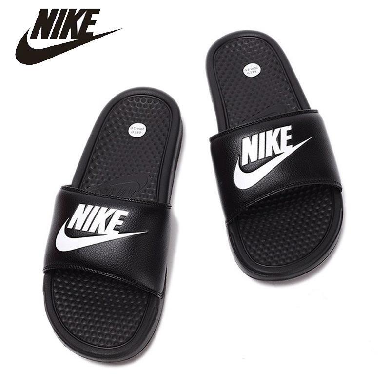 00b350b69 NIKE BENASSI JDI GD Beach   Outdoor Sandals Stability Quick-Drying Anti-chlorine  For Men   Women