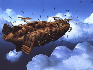 歴代ジブリ作品に登場する戦闘用の兵器一覧 Naver まとめ Castle In The Sky Robot Concept Art Steampunk Ship