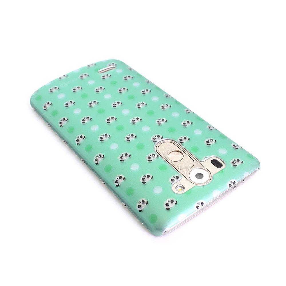 For Lg G3 Vigor Case - Panda Polka Dots Hard Phone Slim Protective Phone Cover