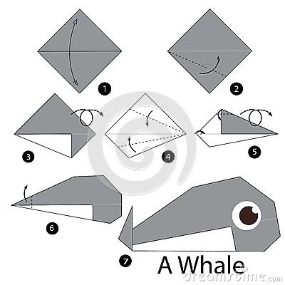 Step By Instructions How To Make Origami Whale