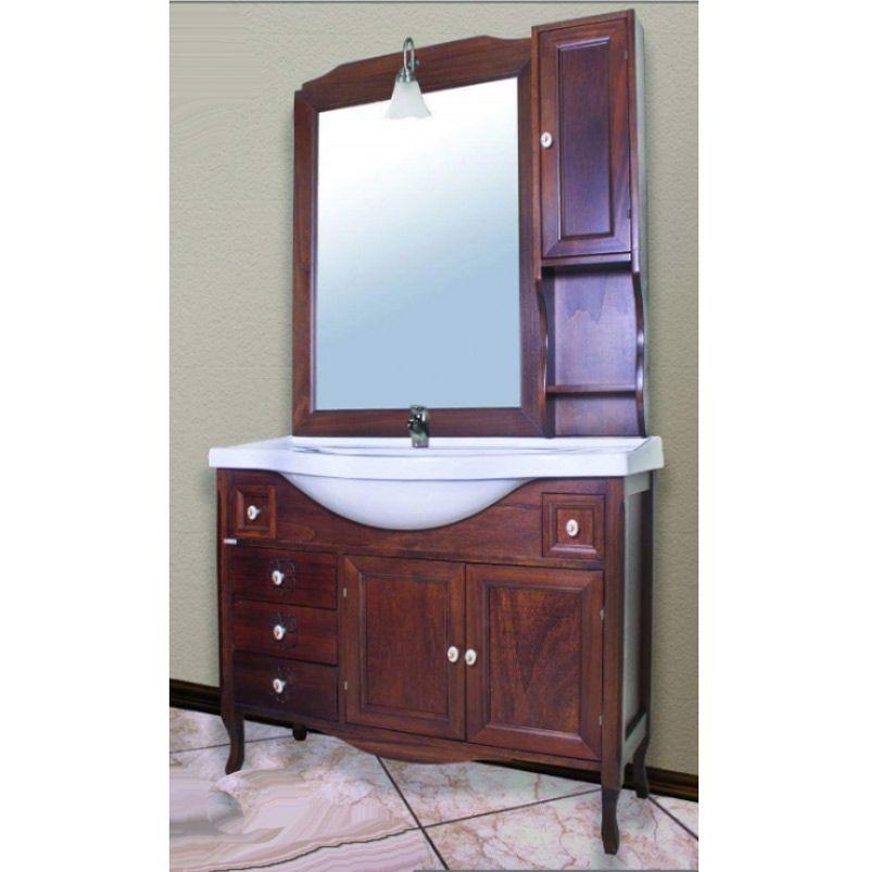 Mobile bagno Elio in arte povera da 105cm con specchio e