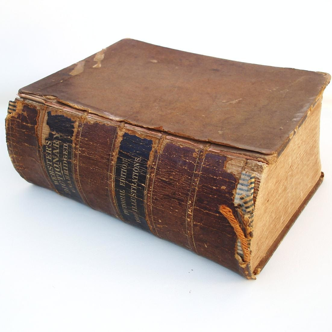 Executive Privilege Webster Definition: Antique Websters Dictionary 1860 Pictorial Edition