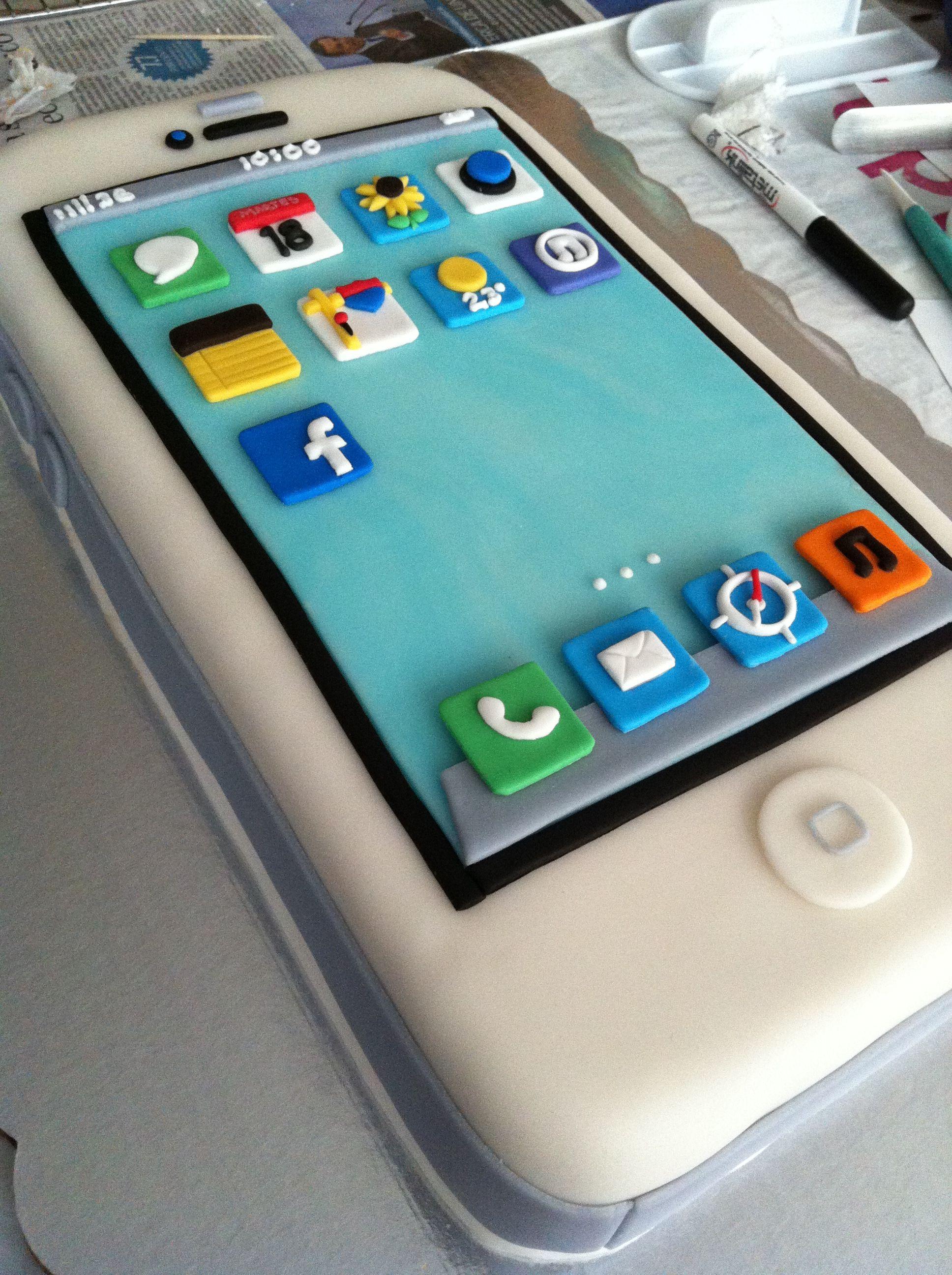 Para los ms tecnolgicos Iphone cake por PasteLucas pastel